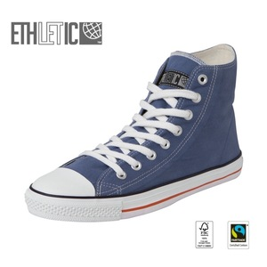 Fair Trainer Hi Cut Collection15 Pale Denim | Just White - Ethletic