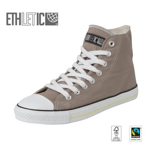 Fair Trainer Hi Cut Collection15 Moon Rock Grey | Just White - Ethletic