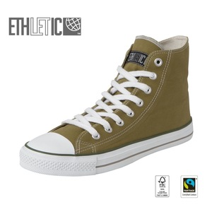 Fair Trainer Hi Cut Collection15 Urban Green | Just White - Ethletic