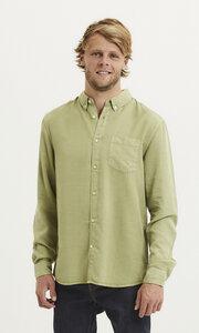 """Herrenhemd """"LARCH Tencel Garment Dye"""" mit Button-Down-Kragen - Vegan; Farbe Sage (Light Dusty Green) - KnowledgeCotton Apparel"""