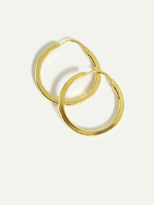 Ohrringe Creole Lola | Goldener Ohrring aus nachhaltigem Silber - DEAR DARLING BERLIN
