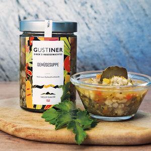 Gemüsesuppe 500g 4er Pack essfertig - Gustiner