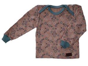 Babyshirt aus Biojersey kleine Blumen - Omilich