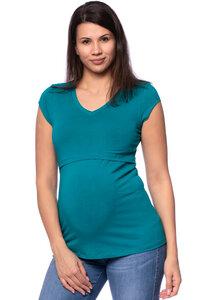 108 BASIC Umstands- und Stillshirt V-Neck mit kurzarm aus weicher Bio-Baumwolle - Milchshake