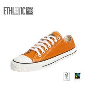 Fair Trainer Lo Cut Edition Mandarin Orange | Just White - Ethletic