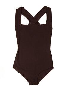 Swimsuit No.1 - eleganter Badeanzug mit überkreuzten Trägern - RENDL