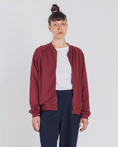 Damen Bomberjacke aus Bio-Baumwolle - Becky - dunkelrot - Degree Clothing
