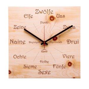 """Wanduhr """"Uhrform"""" Zirbenholz, eckig - huamet"""