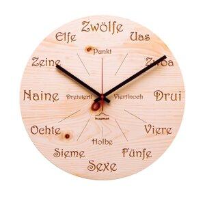 """Wanduhr """"Uhrform"""" Zirbenholz, rund - huamet"""