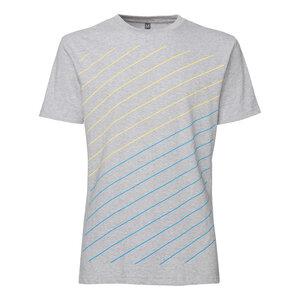 ThokkThokk Thin Striped T-Shirt Blue & Yellow/melange - THOKKTHOKK