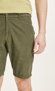 Herrenshorts CHUCK aus Babycord - 100% Biobaumwolle - GOTS/Vegan, Forrest Night - KnowledgeCotton Apparel