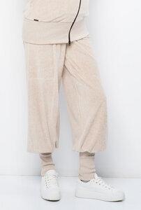 IGO Loungewear Hose mit extra langen Bündchen aus kuscheligem Bio Baumwoll-Nicky - Milchshake