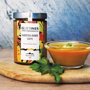 Karotten Ingwer Suppe 500g 4er Pack essfertig - Gustiner