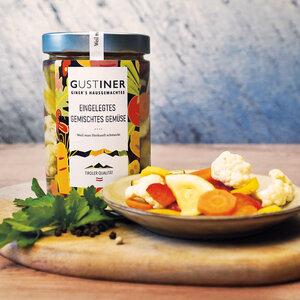 Eingelegtes Gemüse 500g 4er Pack essfertig - Gustiner