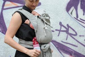 Baby Tragehilfe MySol Tulum grau - Girasol