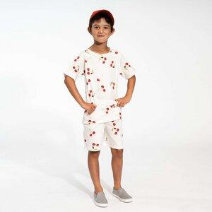 Snurk Kinder Shorty und T-Shirt Cherries-oder Krabben Design 100 % Bio-Baumwolle - SNURK