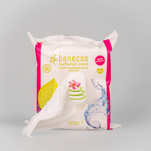 benecos Natural Happy Cleansing Wipes - benecos