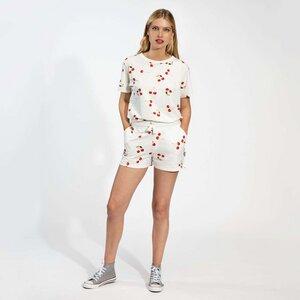 Snurk Damen Shorty und T-Shirt , Cherries -oder Krabben Design 100 % Bio-Baumwolle - SNURK