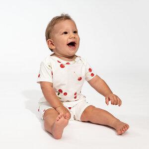 Snurk Baby Playsuit Body, Cherries -oder Krabben Design 100 % Bio-Baumwolle - SNURK