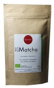 Bio - Matcha - 100 g im Zip-Beutel zum Kochen, Backen, Cocktails, Mixgetränke, ... - Kochmatcha - Quertee