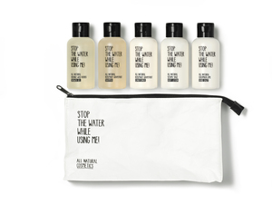 All Natural Cosmetics Travel Kit - Stop The Water While Using Me!