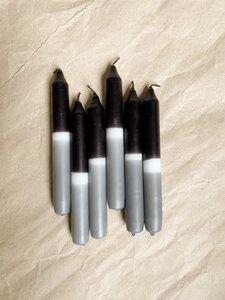 Dipdye Stabkerzen schwarz/grau - lomaja