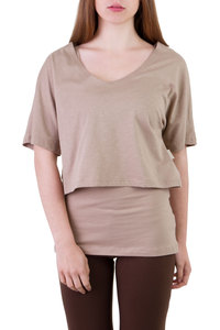 Shirt & Top Fuchsia Set taupe - Ajna
