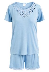 """Pyjama Set, Shorty und kurzärmeliges T-Shirt """"Kirsten"""" Allure blue - CCDK"""