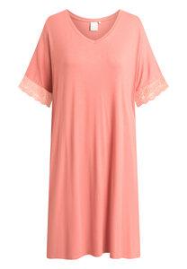 """Mittellanges Nachtkleid mit kurzen Ärmeln """"Lucille Rose"""" faded rose - CCDK"""