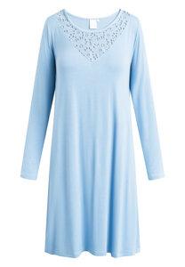 """Mittellanges Nachtkleid mit langen Ärmeln """"Kirsten"""" Allure blue - CCDK"""