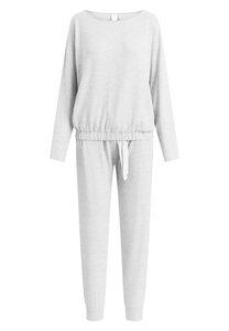 """Pyjama Set, lange Hose und Longsleeve """"Lydia Cosy Grey"""" grey melange - CCDK"""