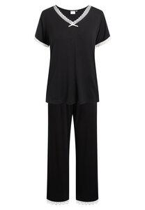 """Pyjama Set, lange Hose und kurzärmeliges T-Shirt """"Jordan S/S"""" black - CCDK"""