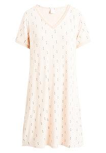"""Mittellanges Nachtkleid mit kurzen Ärmeln """"Jacqueline S/S"""" pink tint AOP - CCDK"""