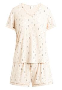 "Pyjama Set, Shorty und kurzärmeliges T-Shirt ""Jordan S/S"" pink tint AOP - CCDK"