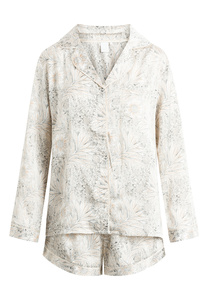 "Pyjama Set, Shorty und Langarmhemd ""Josephine L/S"" pink tint AOP - CCDK"