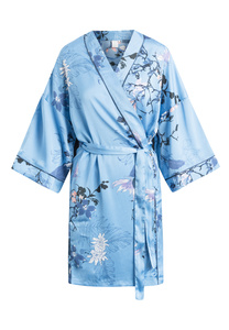 "Mittellanger Kimono ""Jean Kimono Blue"" Allure AOP - CCDK"