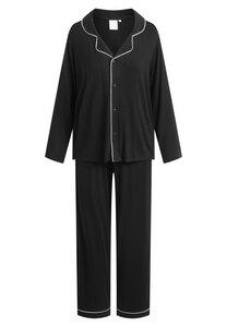 "Pyjama Set, lange Hose und Langarmhemd ""Joy L/S"" black - CCDK"
