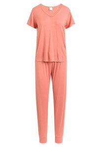 "Pyjama Set, lange Hose und kurzärmeliges T-Shirt ""Joy S/S"" faded rose - CCDK"