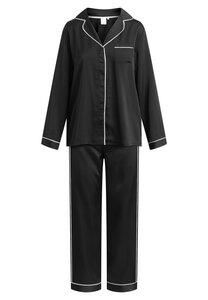 "Pyjama Set, lange Hose und Langarmhemd ""Josephine L/S"" black - CCDK"