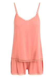 "Pyjama Set, Shorty und Top ""Kendall"" faded rose - CCDK"