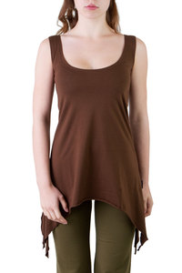 Top Tunic Spinell braun - Ajna