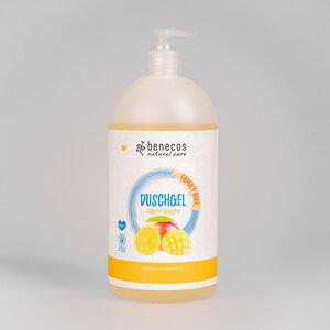 Naturkosmetik - Duschgel - Family Size Mango & Orange - benecos