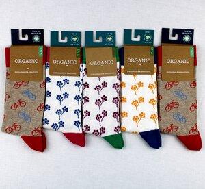 """GOTS zertifizierte Biobaumwolle Socken in """"5er Pack"""" bunte Muster - VNS Organic Socks"""