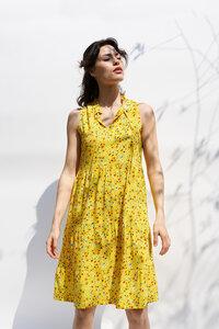 Volantskleid Bella aus Viskose - ME&MAY