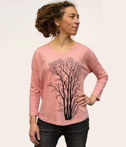 Erle mit Elster 3/4-Ärmel-T-Shirt in canyon pink - Cmig