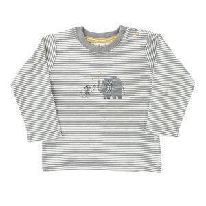 Baby Langarmshirt weiß geringelt Bio People Wear Organic - People Wear Organic