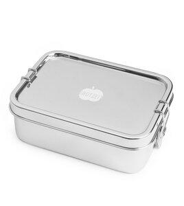 Dichte Lunchbox Klickstar aus Edelstahl, in 2 Größen - Brotzeit