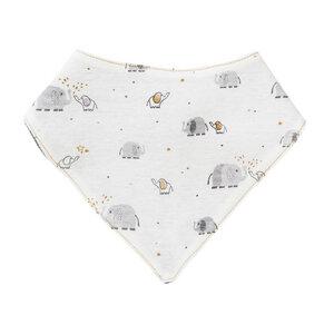 Baby Dreieckstuch weiß gemustert Öko People Wear Organic - People Wear Organic