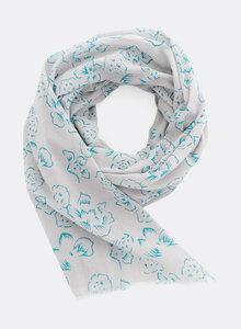 Schal aus Bio-Baumwolle – Blüten 3192 - Djian Collection