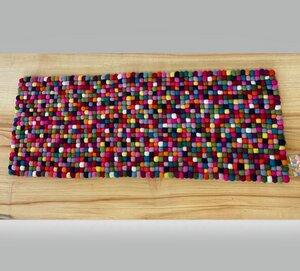 Filzkugel Tischläufer 25x70 cm bunt - NEPALAYA